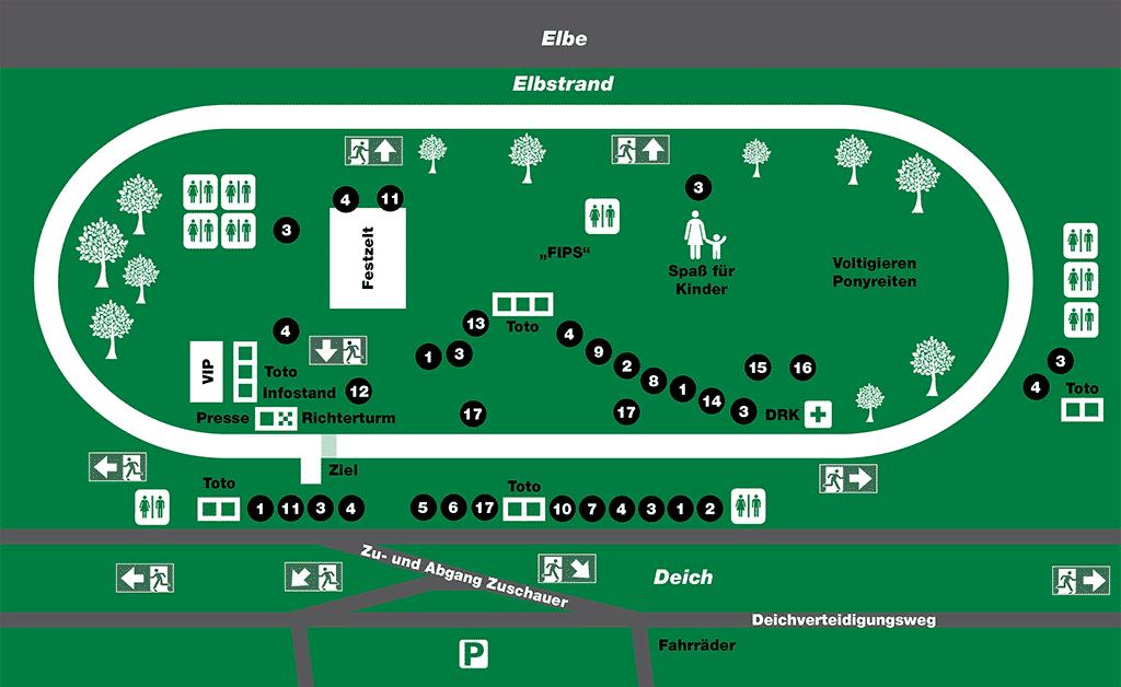 Lageplan Stover Rennen 2017