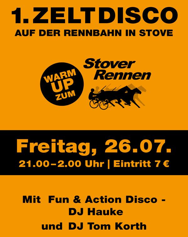 Stover Rennen Zeltdisco 2019 Plakat
